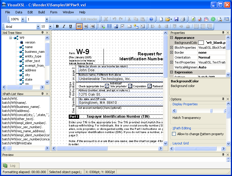 Visual-XSL (VisualXSL) User Guide 1  Overview < Support < XML to PDF