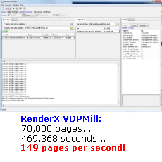 VDPMill - High-performance variable data publishing test results: PDF, PostScript at 149 pages per second